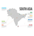 infographic map of south asia modern template vector image