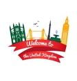 logo landmarks of United Kingdom vector image vector image
