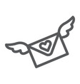 love letter line icon message and envelope love vector image