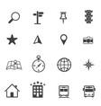 map icons set navigation vector image vector image