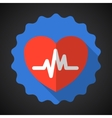 Medical Heart Flat Icon vector image