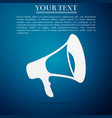 megaphone flat icon on blue background vector image