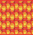 random red and yellow circular seamless pattern vector image