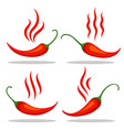 red tabasco pepper icons vector image vector image