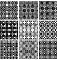 seamless geometric patterns set vector image vector image
