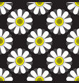 seamless pattern flowers ornament on black vector image vector image