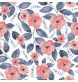 seamless vintage floral background vector image vector image