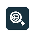 search globe icon Rounded squares button vector image