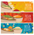 set banners for theme indian cuisine vector image