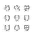 set line icons shield vector image