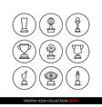 set of premium award icons eps10 vector image