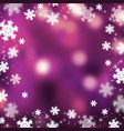 snowflakes christmas abstarct background vector image vector image
