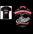 t-shirt design for bikers with motorcycle vector image vector image