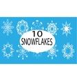 Ten white snowflakes vector image