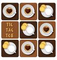 Tic-Tac-Toe of cappuccino and espresso vector image vector image