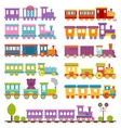 Toy train different cartoon vector image vector image