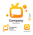 tv logo modern identity for television brand and vector image vector image