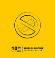 world suicide prevention day design vector image vector image