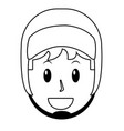young man avatar vector image vector image