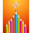 Art pencils Christmas tree vector image