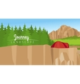 Mountain and forest landscape background vector image