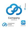 cloud digital logo technological abstract modern vector image