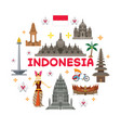 indonesia travel attraction label