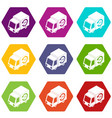 24 hour delivery icons set 9 vector image