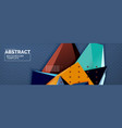 3d triangular shapes geometric background origami vector image vector image