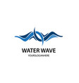 abstract wave business logo design template vector image vector image