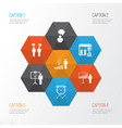 administration icons set collection of opinion vector image