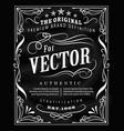 antique label typography poster vintage frame vector image vector image