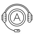audio book listen icon outline style vector image