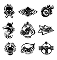 Bikers badges emblems icons vector image vector image