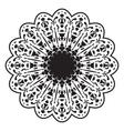 Black and white circular pattern or mandala vector image vector image