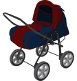 blue pram vector image vector image