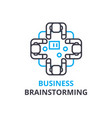 business brainstorming concept outline icon vector image
