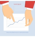 businessman pointing to chart vector image