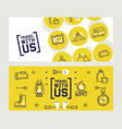 camping banner with isolated icons travel vector image