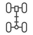 chassis line icon wheel vector image
