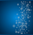 christmas and new year snowflakes vector image vector image