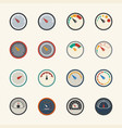 circular meter icons set vector image vector image