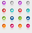 Colored set round web buttons weather vector image vector image
