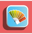 Colorful pantone icon vector image