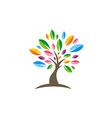 colorful tree decorative beauty logo vector image vector image