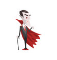 count dracula vampire cartoon character wearing vector image vector image
