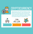 cryptocurrency market cryptocurrency vector image