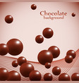 dark chocolate balls on abstract background vector image vector image