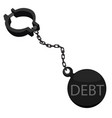 debtor ball on chain vector image
