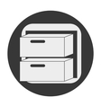 desk object icon vector image